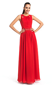 Formal Evening / Prom / Military Ball / Wedding Party Dress - Ruby Plus Sizes / Petite Sheath/Column Jewel Floor-length Chiffon