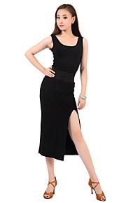 Latin Dance Dresses Women's Training Cotton Black Latin Dance / Ballroom Spring, Fall, Winter, Summer