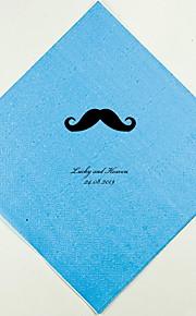 Boda personalizada servilletas Bigote (más colores) Juego de 100