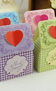boîte de bonbons de mariage de conception de coeur (plus de couleurs), set de 12