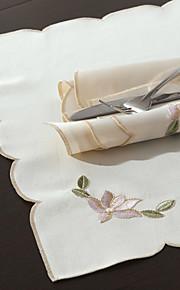 """16 """"X16"""" Modern Style White Loyus Floral Servietter"""