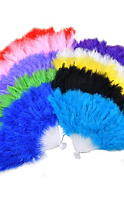 Plume Ventilateurs et parasols Pièce / Set Eventail H 15 cm x l 26 cm 2.4cmx18cmx1cm