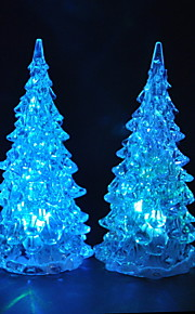 Colorful LED Flashing Christmas Tree Lamp -Set of 4