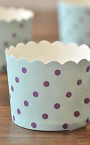 point pourpre bleu gâteau wrapper-ensemble de 50