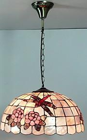 80W artistico Tiffany luce del pendente con Vivi Natura Shell Shade integrato
