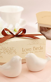 Love Birds Ceramic Salt And Pepper Shakers Wedding Favor