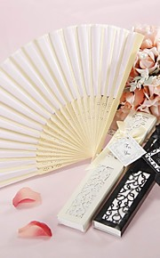 Luxurious Silk Hand Fan in Elegant, Laser-Cut Gift Box