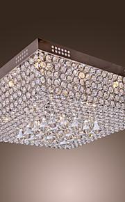 ampa sufitowa z kryształami, 45 kolorowych diod LED i 12 gwintów G4