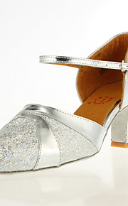 Leatherette And Sparkling Glitter Dance Performance Shoes (More Colors)