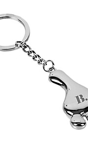 Personalized Engraved Gift Creative Foot Shaped Keychain with 1 Letter