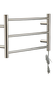 30W Stainless Steel Polished Wall Mount Circular Tube Towel Drying Rack