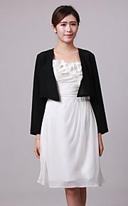 manches longues vestes du soir en mousseline de mariage / partie personnalisés / enveloppements (plus de couleurs) bolero haussement