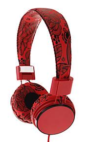 EP058 Flower Pattern Opvouwbaar on-ear hoofdtelefoon met microfoon