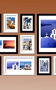 ブラックホワイト写真10の壁フレームコレクションセット