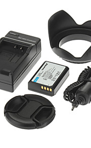 ismartdigi 860mAh kamera batteri + billader +58 mm linse dæksel + hætte til canon kysse x50 T3 EOS 1100D