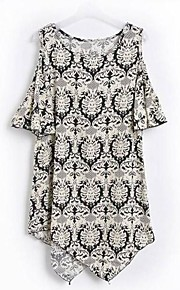 Damen Kleid Niedlich Übers Knie Baumwolle
