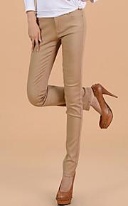TS Einfachheit Elastizität Hautenge Jeans Washed Yellow