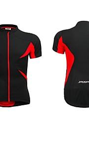 maillot de cyclisme jaggad Velo manches courtes été unisexe noir rouge polyester et spandex dos de poche à fermeture éclair
