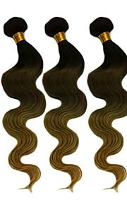 20inch grote 5a Braziliaanse maagd menselijk haar lichaam wave ombre hair extensions / weave (1b / 4 # / 27 #)
