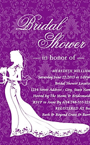 Personalized Lavender Bridal Shower Cards - Set of 12