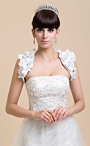 mouwloze satijnen bruiloft / avond avond jas / wrap (meer kleuren) bolero schouderophalen