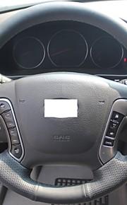 Xuji ™ Black echt leder stuurhoes voor Hyundai Santa Fe 2006-2012