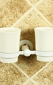 Painting Finish Wall-mounted Double Tumbler Holder