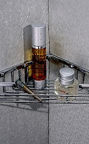 Silber Messing Dreiecks Corner Storage Basket