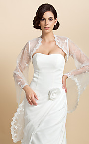 lange mouwen kant speciale gelegenheid 's avonds jas / bruiloft wrap (meer kleuren) bolero schouderophalen