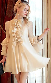 Women's Beige Shirt , Vintage/Casual ¾ Sleeve