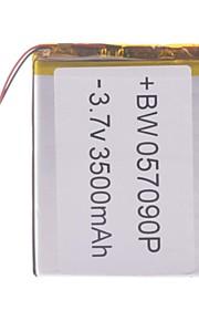 "Universele vervanging van 3.7V 3500mAh Li-polymer batterij voor 7 ~ 10 ""Macbook Samsung Acer Sony Apple Tablet PC (5 * 70 * 90)"
