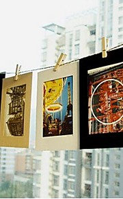 DIY Suspension Type  Paper Frame Photo Wall With Hemp And Rope Clip-Set of 10 Pcs 6 Inches