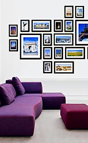 Galería negro marcos de cuadros collage, conjunto de 20
