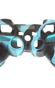 2kpl Camouflage Suojaava silikoni iho Case for PS3-ohjaimen