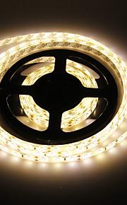 Vanntett 5M 60W 60x5730SMD 7000-8000LM 3000-3500K varm hvit lys LED stripe lys (DC12V)