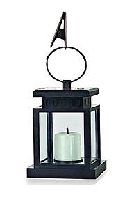 1-conduit lanterne solaire blanc avec une lampe de jardin de lumière de parapluie bougie maquette