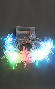 20-LED 2.5M Batteridrevet Dragonfly fargeendringen String Fairy Lights for Julebord Bryllup