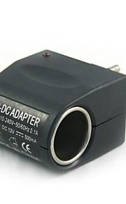 100V-240V AC naar DC voeding sigarettenaansteker (eu stekker) 12v