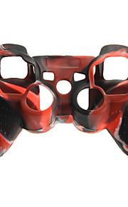 защитная двухцветными крышка случая кожи силикона для PS3 контроллер бесплатной доставкой
