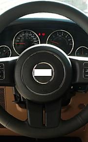 Xuji ™ Black echt leder stuurhoes voor 2012 Jeep Compass Grand Cherokee Patriot Wrangler