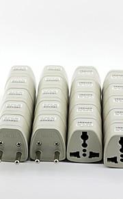 enchufes adaptadores de alimentación de CA universal de viaje de la UE (20 / pack)