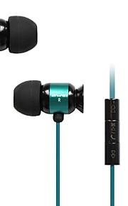 3.5mm plug in-ear oortelefoon met microfoon&volumeregeling voor iPhone en Samsung en anderen (verschillende kleuren)