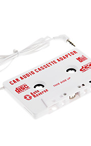 car audio cassette-adapter speler auto-reverse (wit)