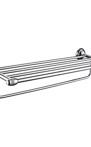 Contemporary Mirror Polished Finish Stainless Steel Material Bathroom Shelves