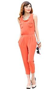 Jianzi Frauen dreiviertel leuchtend orange Overalls