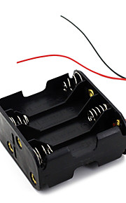 8pcs batería pilas AA (12v) caso cuadro titular de clip de negro