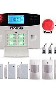 zoneway® trådløs gsm sms hjem indbrudstyv ubuden gæst sikkerhed alarmsystem med lcd, 99 trådløse forsvar zoner