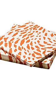 leopard print mønster papir serviet jomfrupulp 30 stykker 17x17x3cm