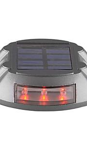 Lampe solaire 6-conduit extérieur allée de route chemin de quai étape lumière rouge-éclairage