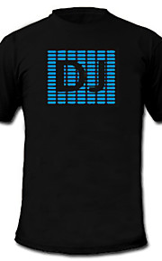 suono e la musica meter spettro attivato visualizzatore el vu ha portato t-shirt (2 * aaa)